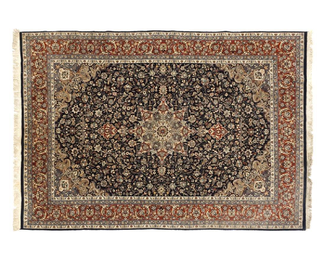 A Persian Kashan variety rug