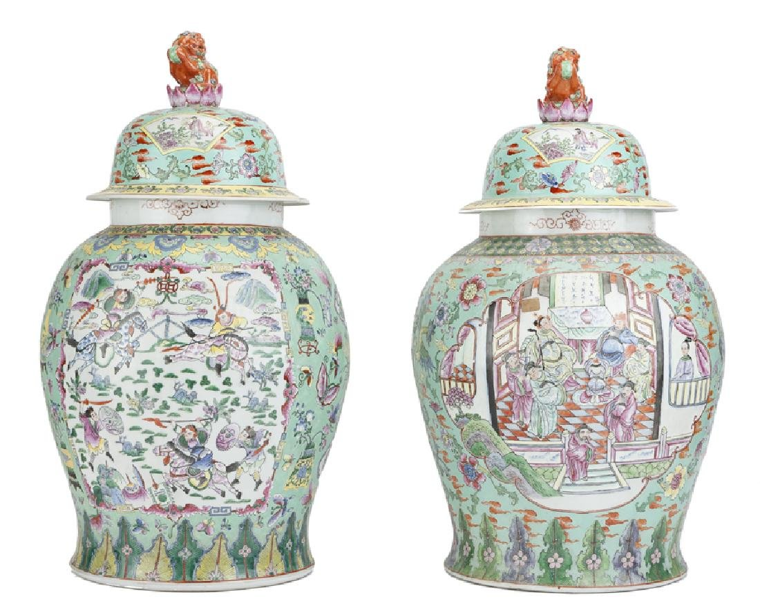 A near pair of Chinese Republic-period urns