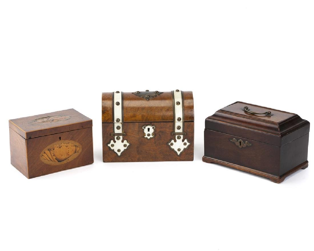 A group of Victorian and Georgian boxes
