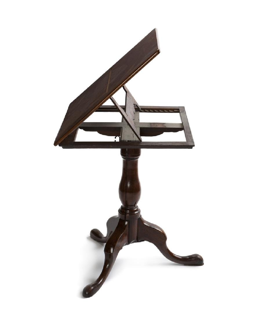 A Georgian-style walnut tilt-top table - 2