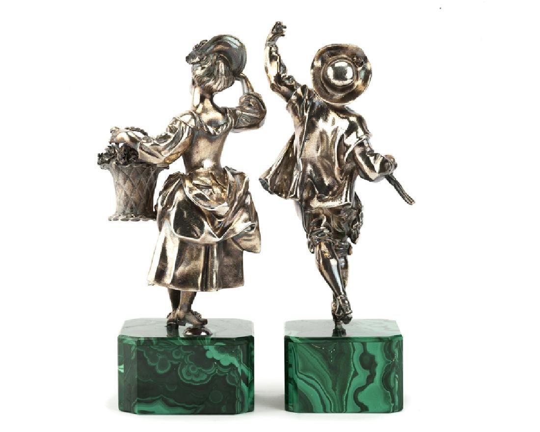 A pair of Victorian sterling silver figures - 2