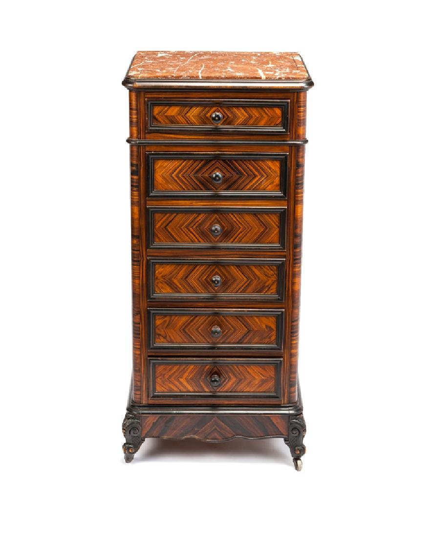 A Victorian marble-top humidor/dresser