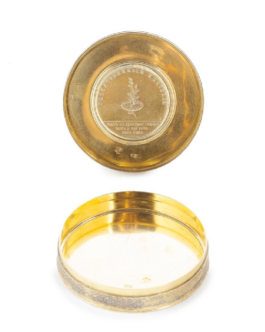 A Russian vermeil medallion box - 3