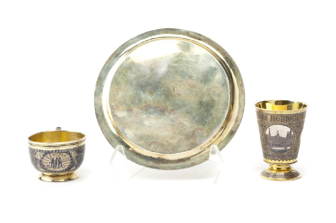 Three Russian silver, gilt and niello objects - 2