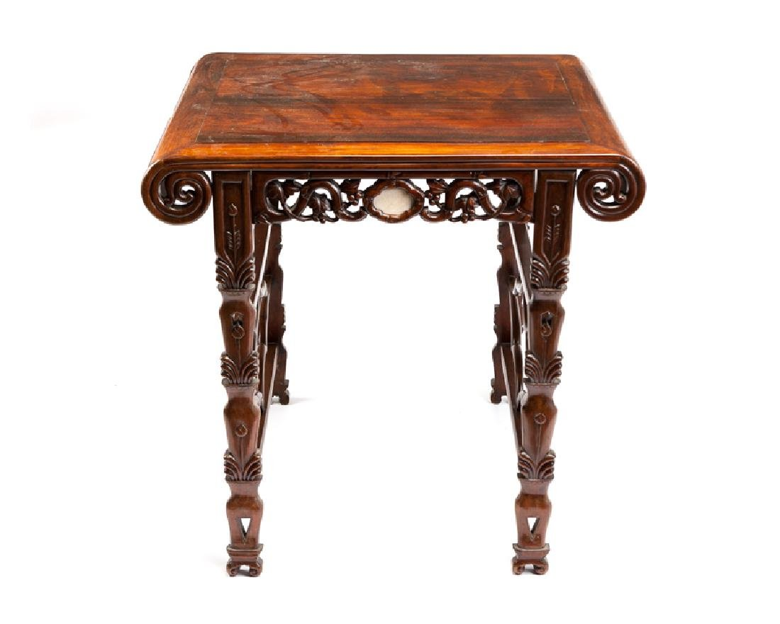 A Chinese carved hardwood offering table