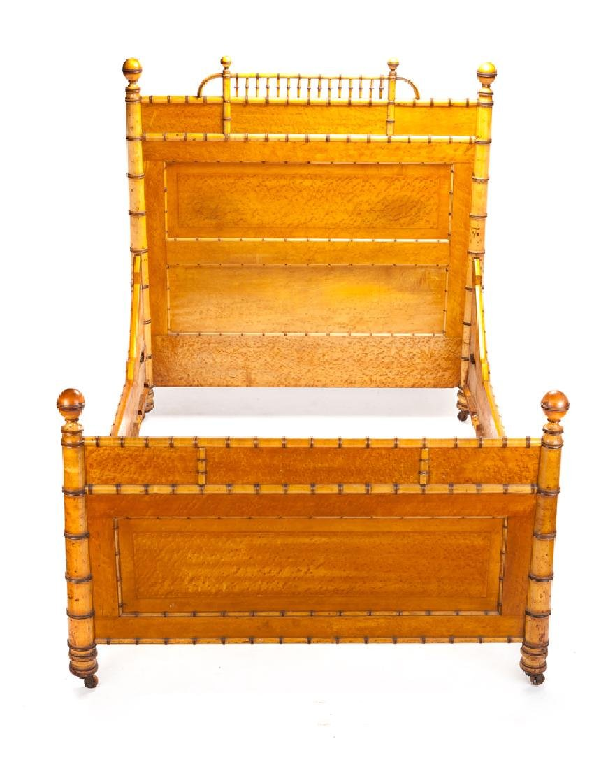 A Victorian faux bamboo bedroom set - 10