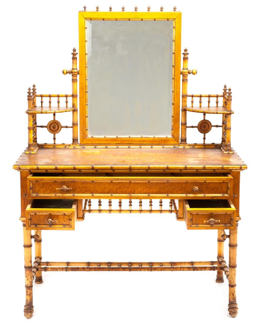 A Victorian faux bamboo bedroom set - 3