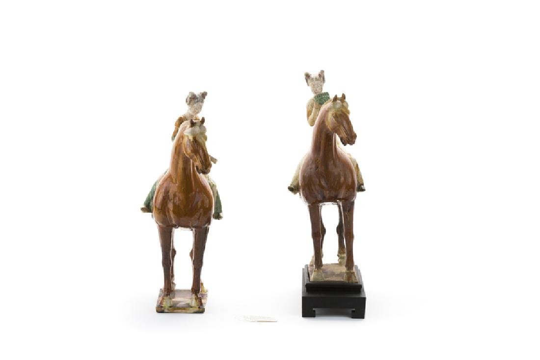 A pair of sancai glazed Tang dynasty-style model horses - 3