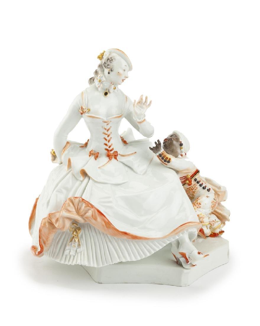 A Meissen porcelain figural group, Paul Scheurich