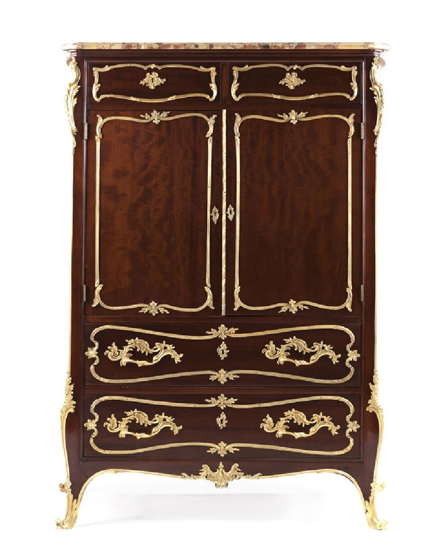 A Louis XV-style gilt bronze-mounted armoire, Linke