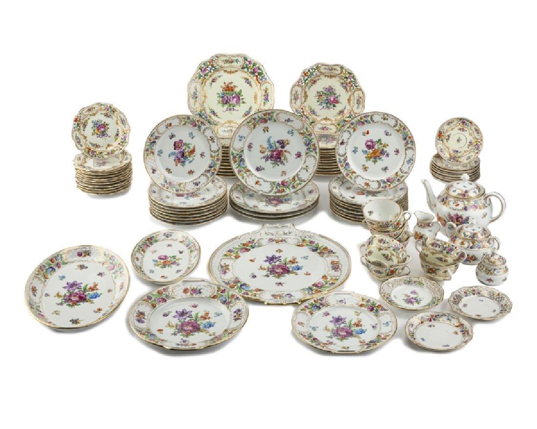 An assembled porcelain tea and dinner service