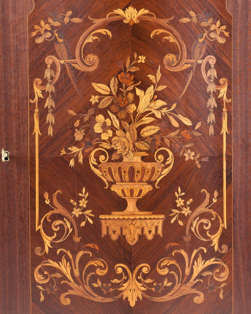 A Louis XV-style gilt bronze-mounted marquetry cabinet - 2