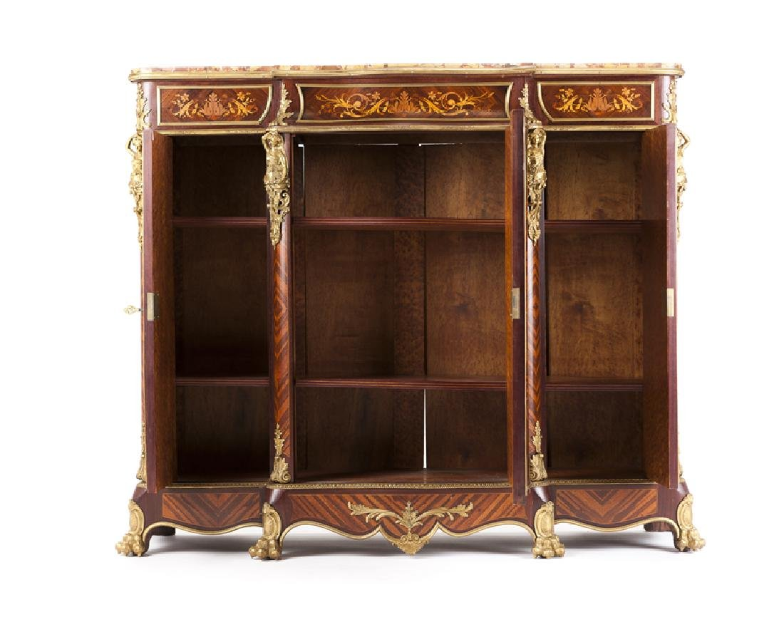 A Louis XV-style gilt bronze-mounted marquetry cabinet - 3