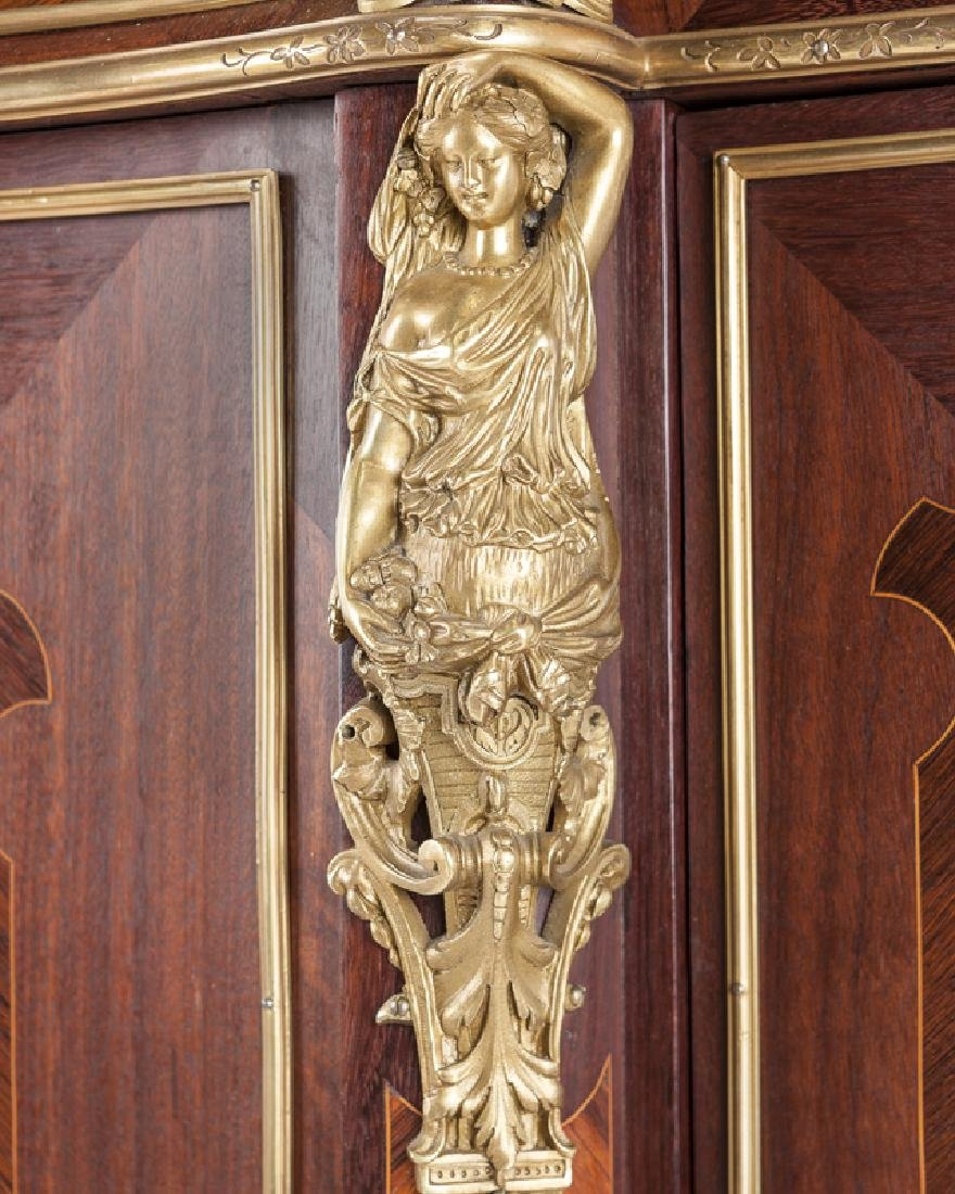 A Louis XV-style gilt bronze-mounted marquetry cabinet - 5