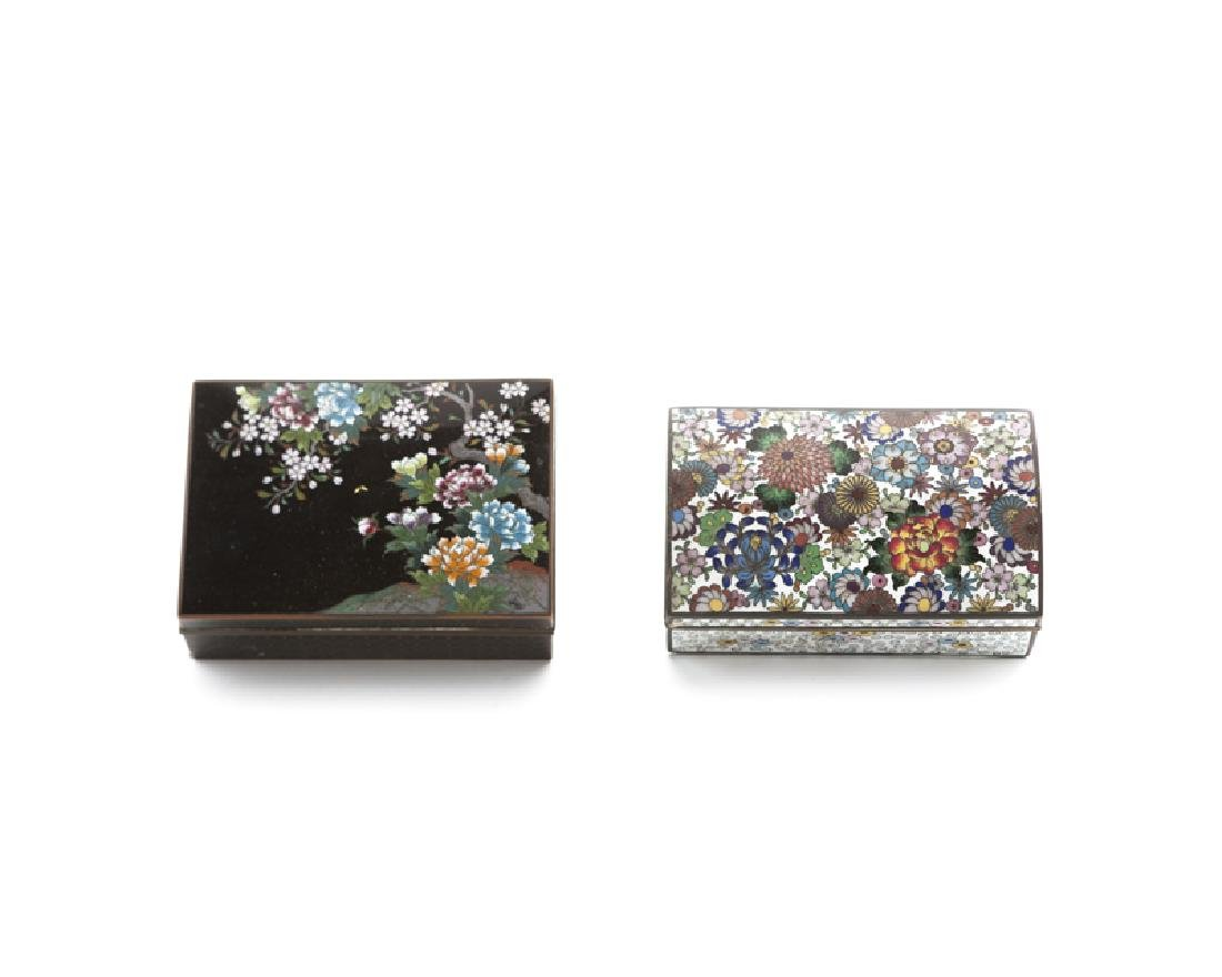 Two Japanese cloisonne boxes