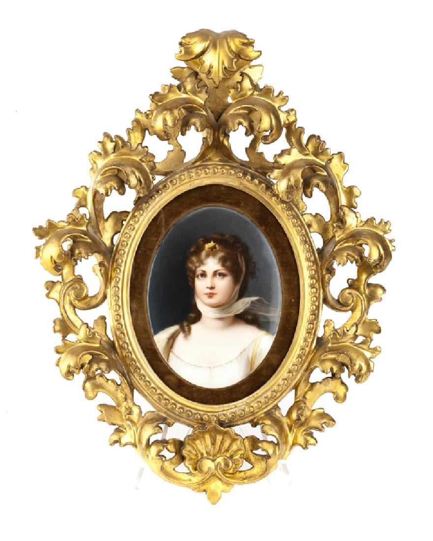 A Berlin / KPM porcelain plaque, Queen Louise