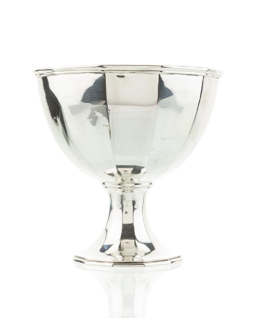 A Tiffany & Co. sterling silver pedestal bowl