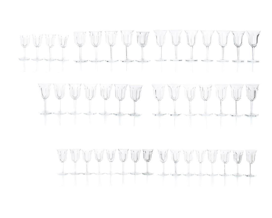 A Baccarat ''Malmaison'' crystal stemware service