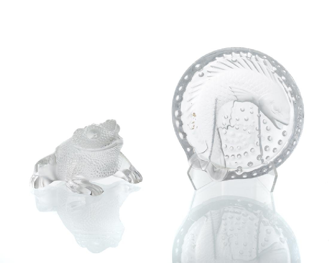 Two Lalique art glass objects