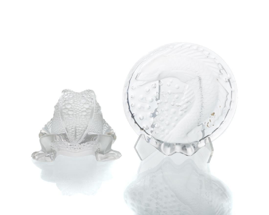 Two Lalique art glass objects - 2