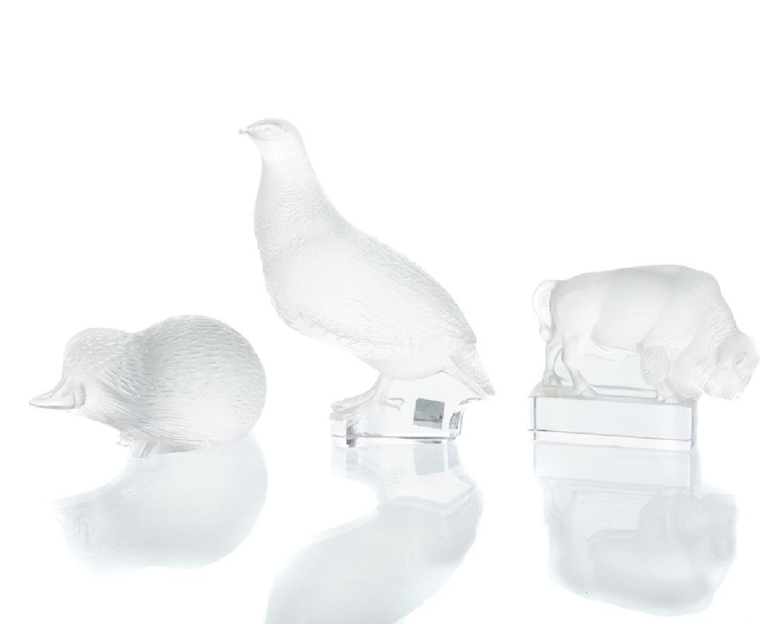 Three Lalique art glass animals - 2