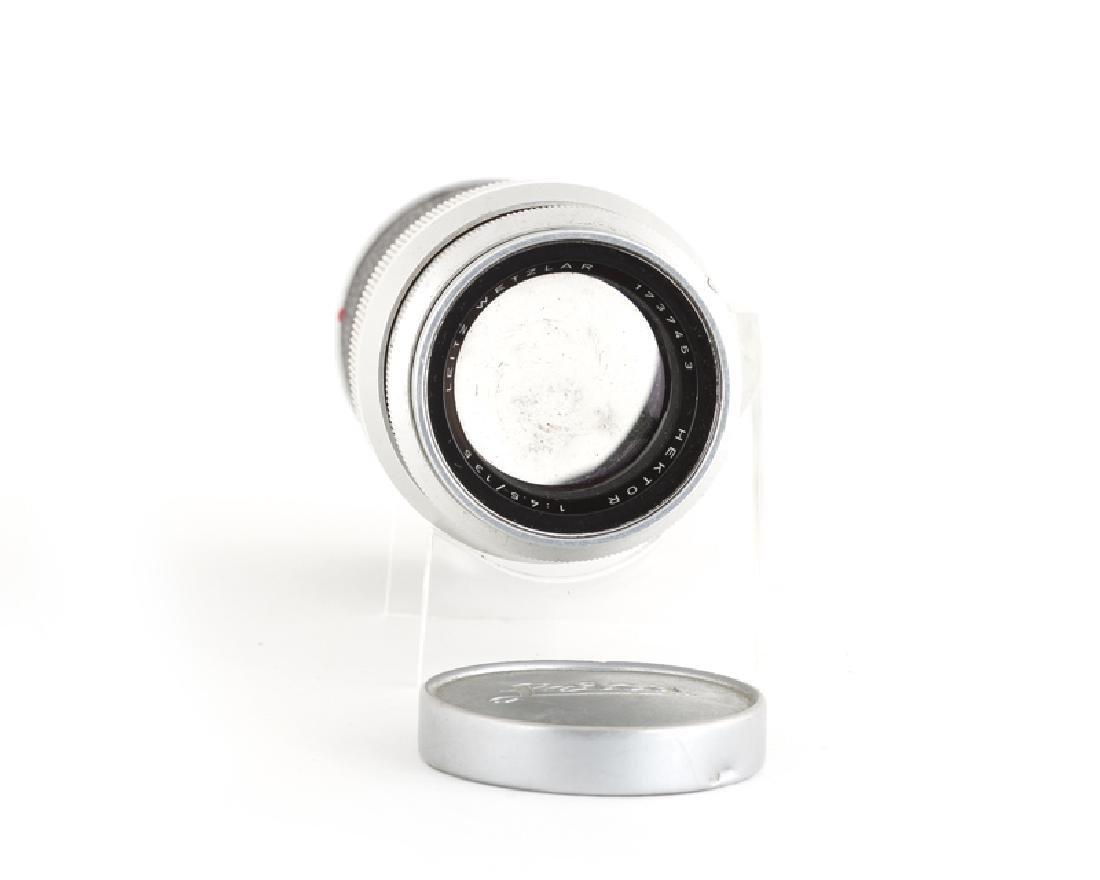 A Leica Wetzlar 13.5 cm 1:45 Hektor lens and f/ 5 cm - 2