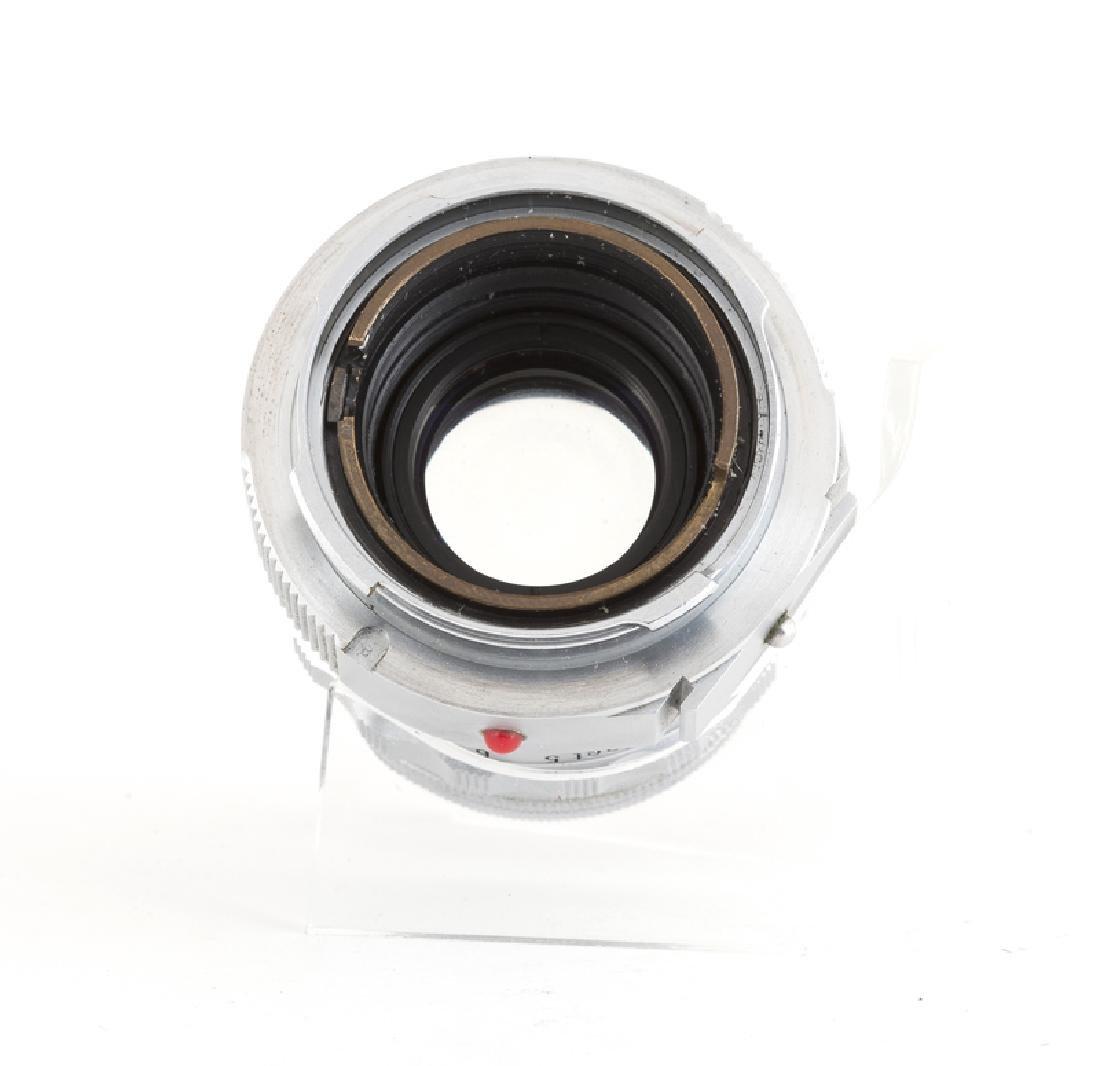 A Leica Wetzlar 13.5 cm 1:45 Hektor lens and f/ 5 cm - 5