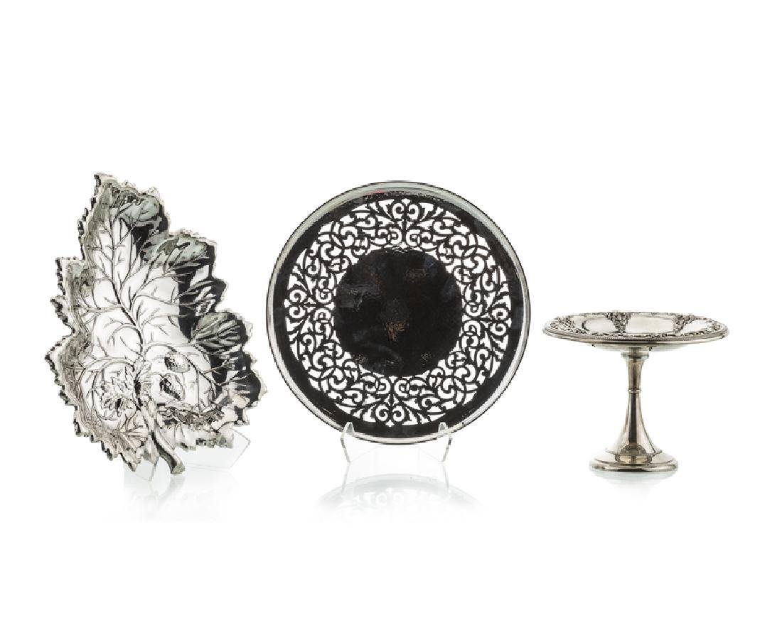 A group of three sterling silver objects