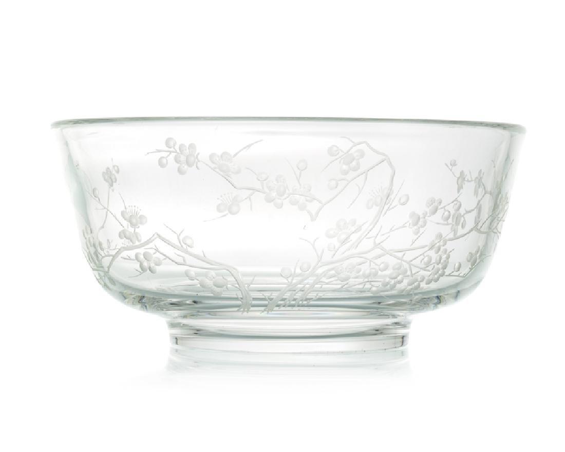 A Steuben ''Plum Blossom'' bowl