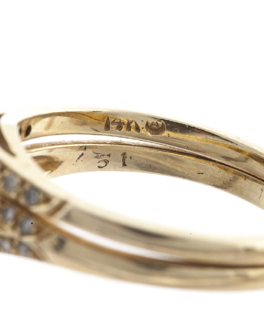 A diamond and yellow gold engagement set - 2