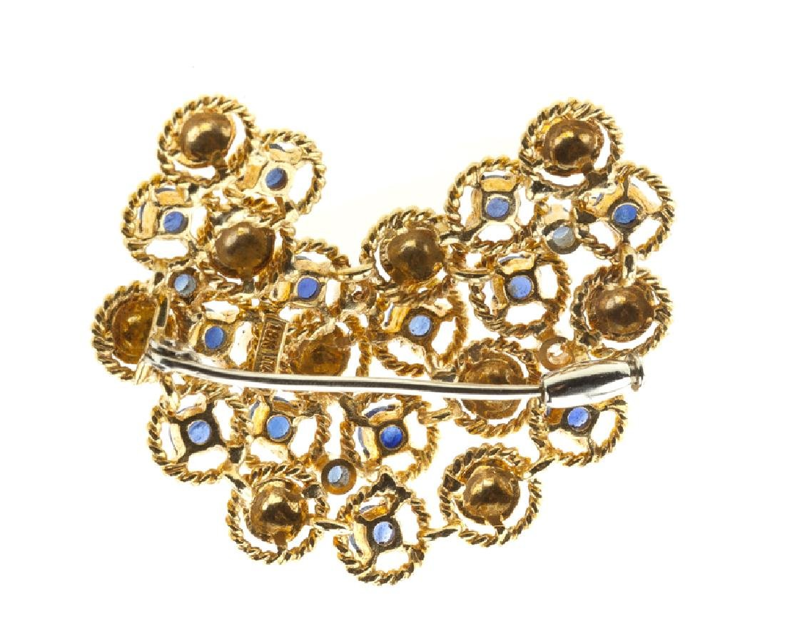 An Italian sapphire and diamond brooch - 2