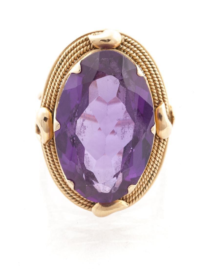 A gemstone ring