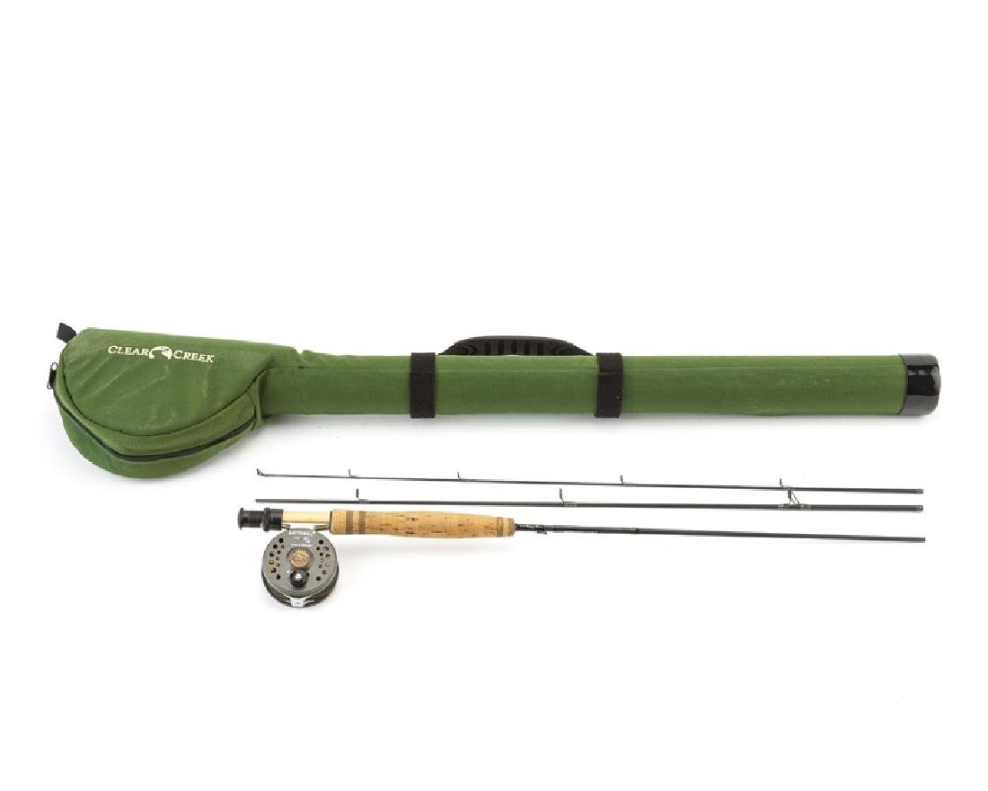 A custom graphite fly fishing rod with reel
