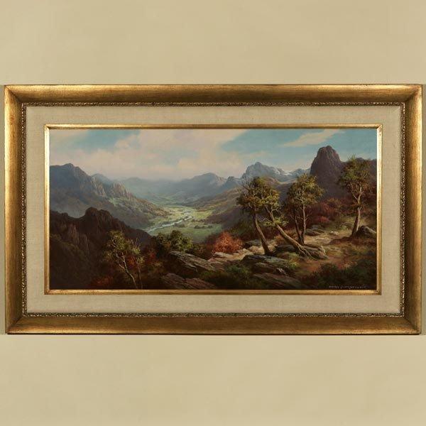 1016: ANTON GUTKNECHT, MOUNTAIN LANDSCAPE, OIL