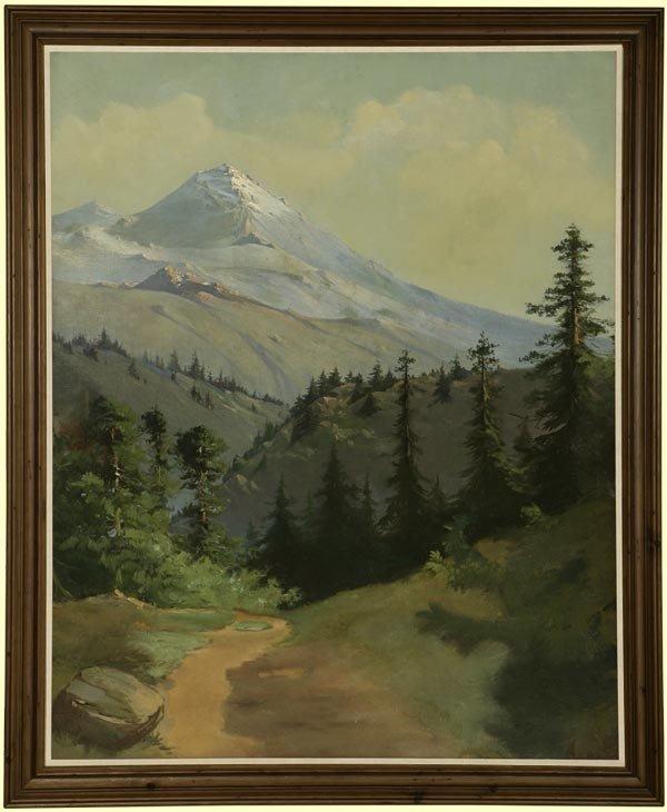 1021: J.W. MITFORD, MOUNTAIN LANDSCAPE, 1912, OIL