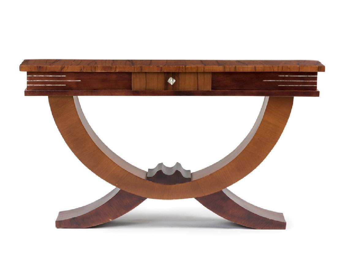 An Art Deco sofa table