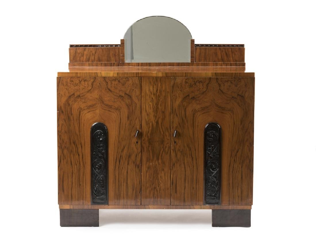 An Art Deco mirrored sideboard