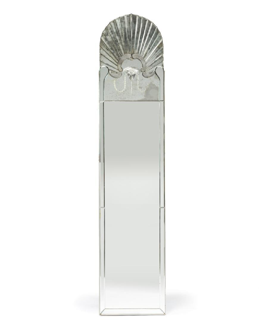 An Art Deco ram-motif mirror