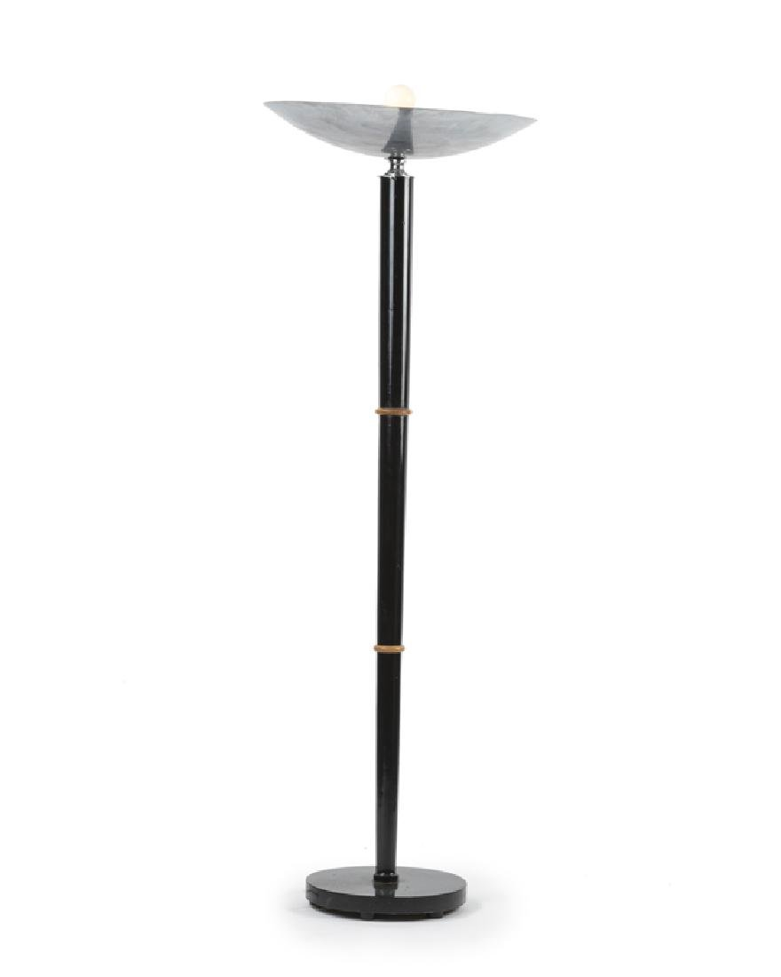 An Art Deco torchiere floor lamp