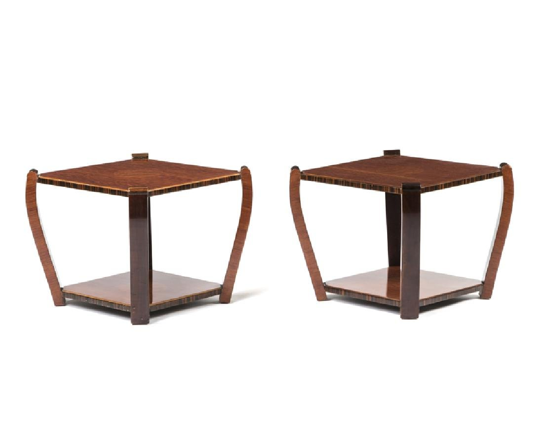 A pair of Art Deco lamp tables