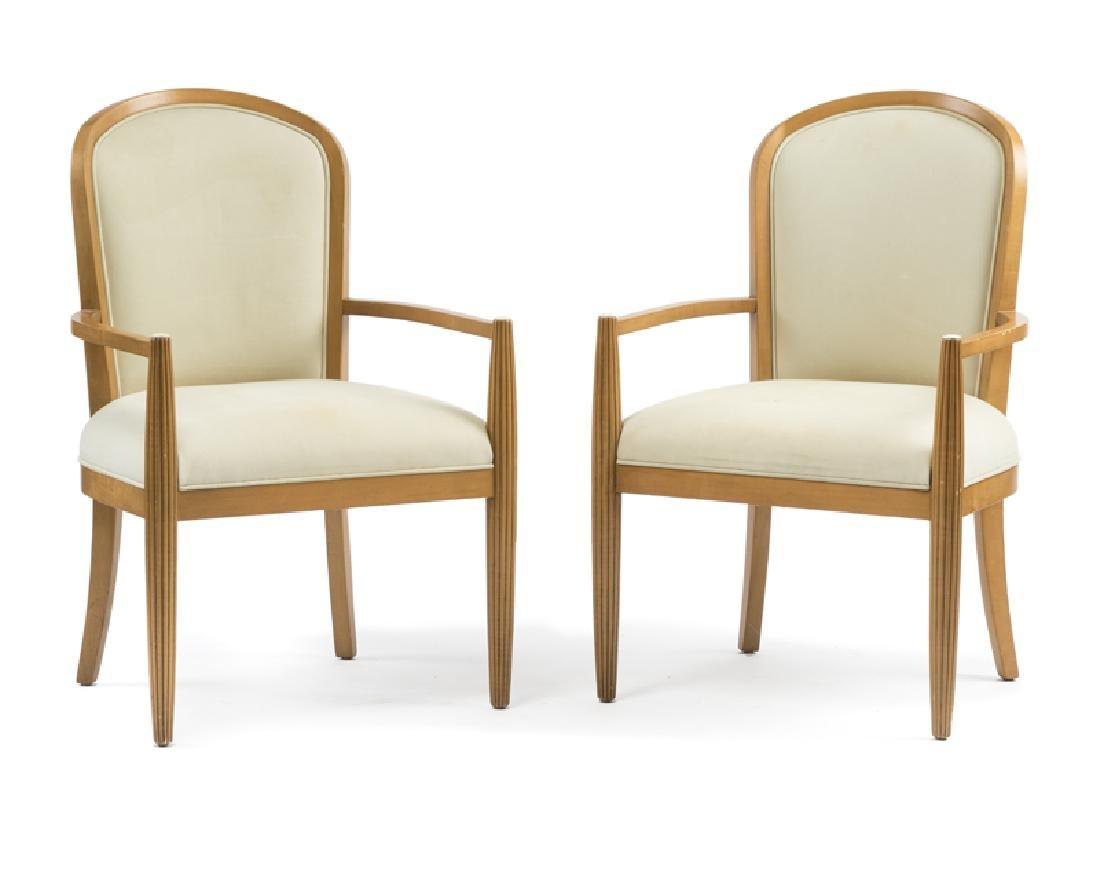 A pair of J. Robert Scott ''Paris'' armchairs