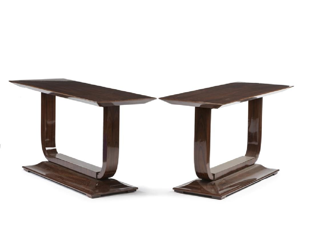 A pair of Art Deco-style console tables