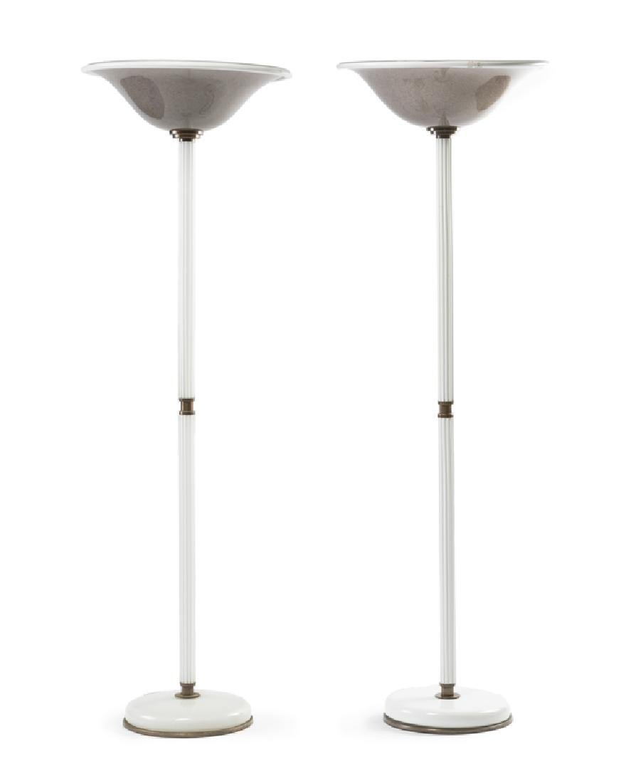 A pair of Murano glass floor lamps