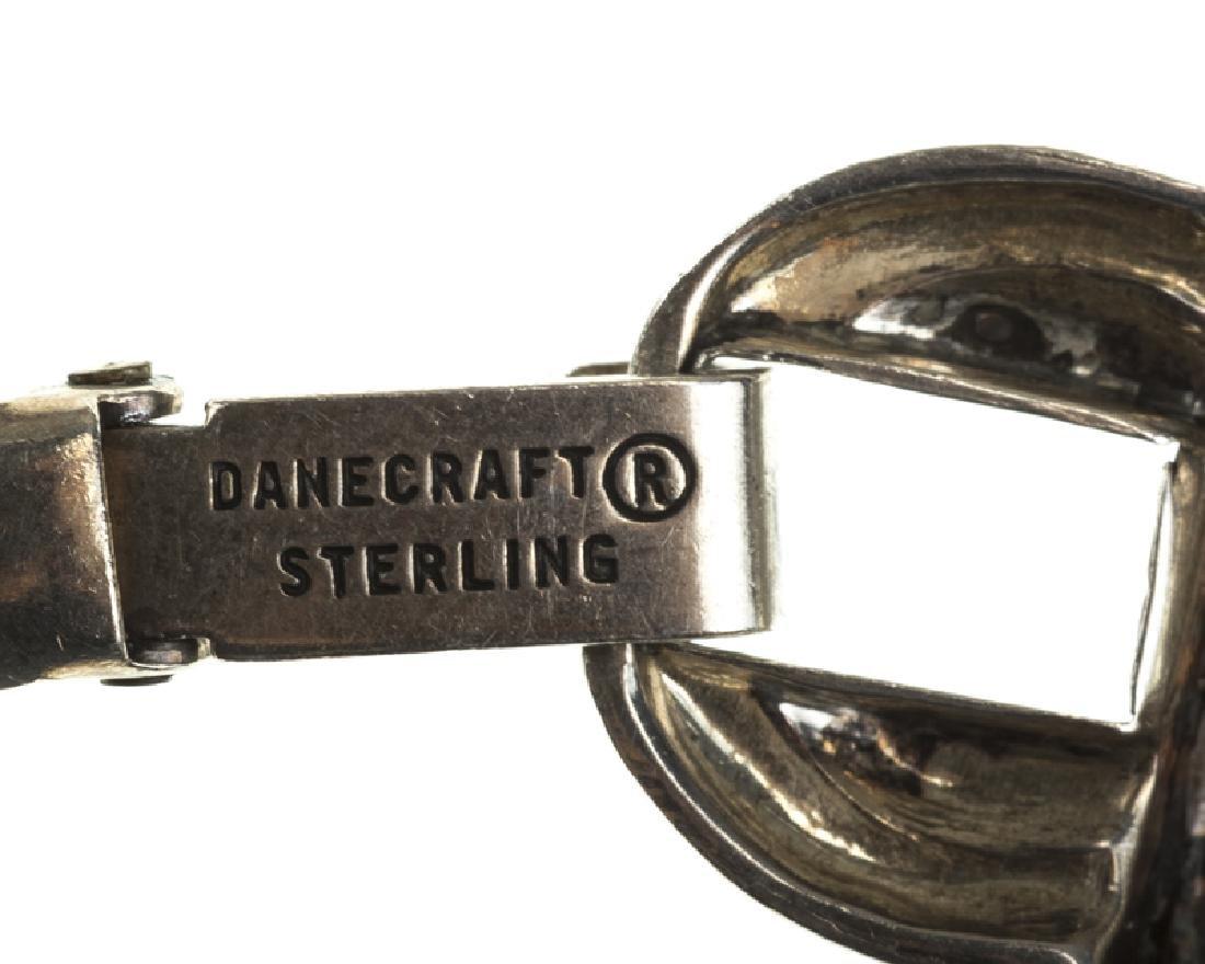 Four Modernist sterling silver bracelets - 4