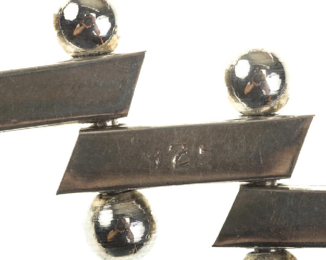 Four Modernist sterling silver bracelets - 5