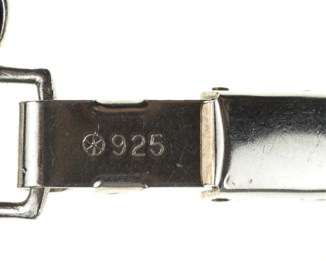 Four Modernist sterling silver bracelets - 6