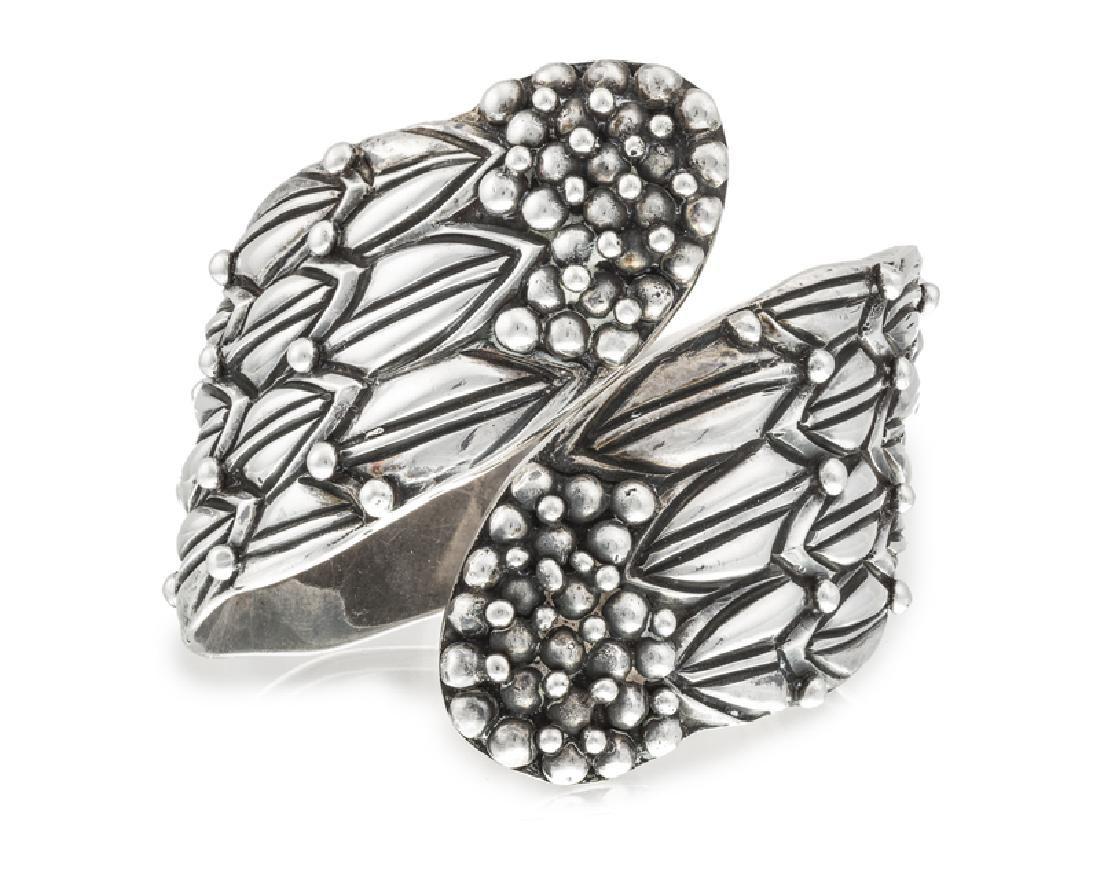 A Hilario Lopez/Margot de Taxco silver clamper bracelet