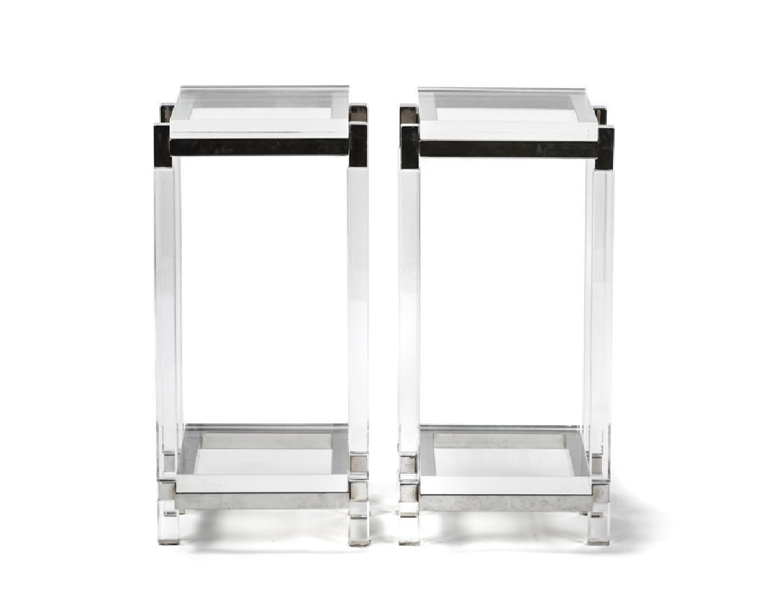 A pair of pedestal tables, Charles Hollis Jones