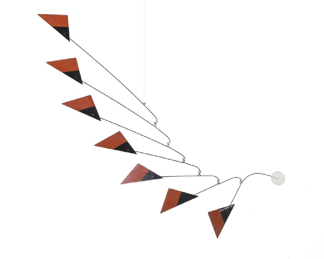 A contemporary geometric hanging mobile
