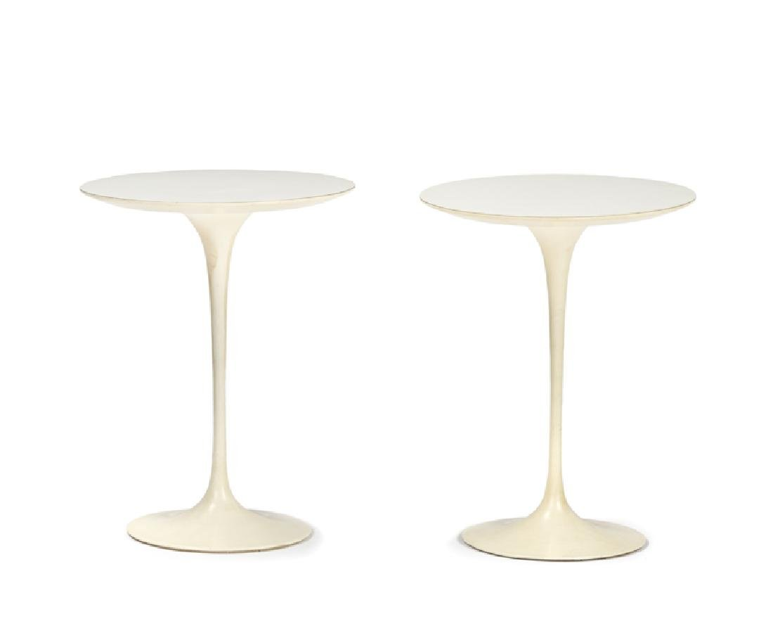 A pair of Eero Saarinen for Knoll ''Tulip'' occasional